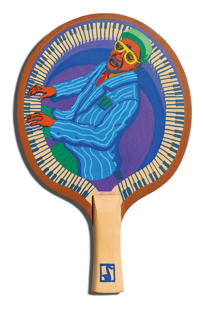 Front of Gaurab Thakali's racket