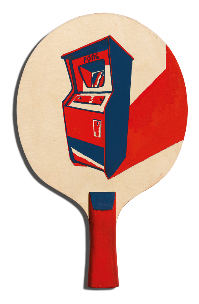 Back of Harry Tennant's racket