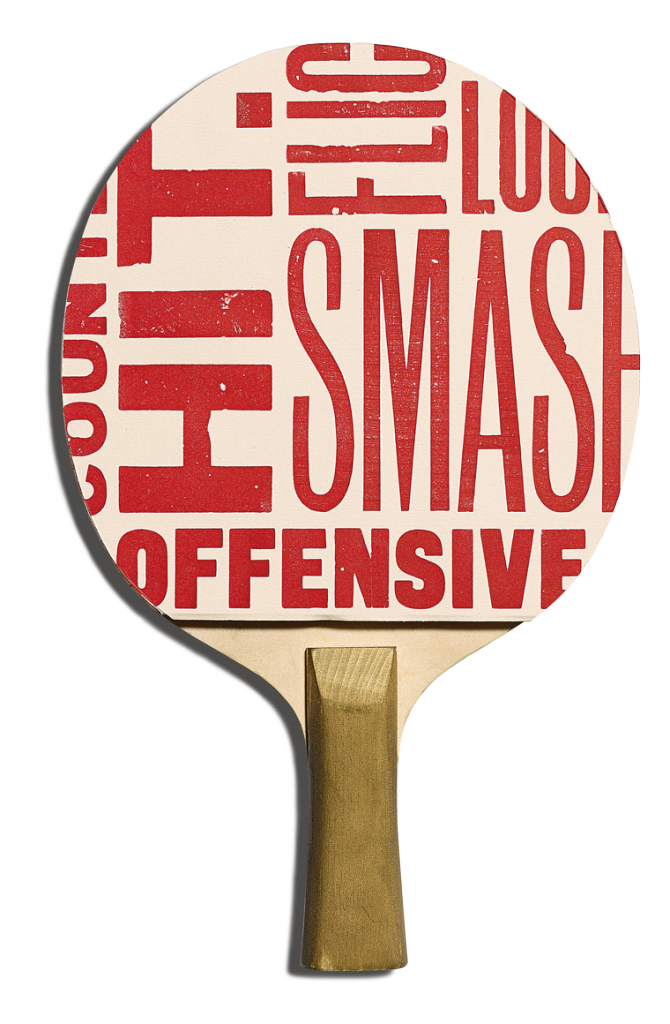 Back of Mr Smith's racket