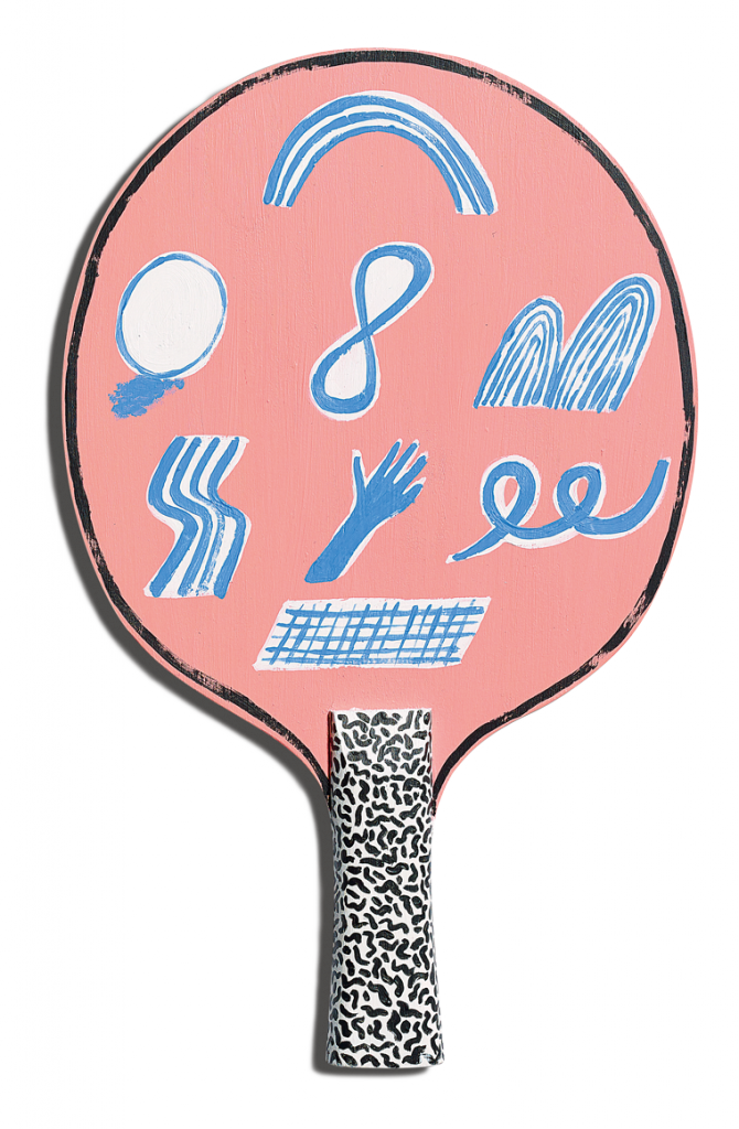 Front of Rosy Nicholas's racket