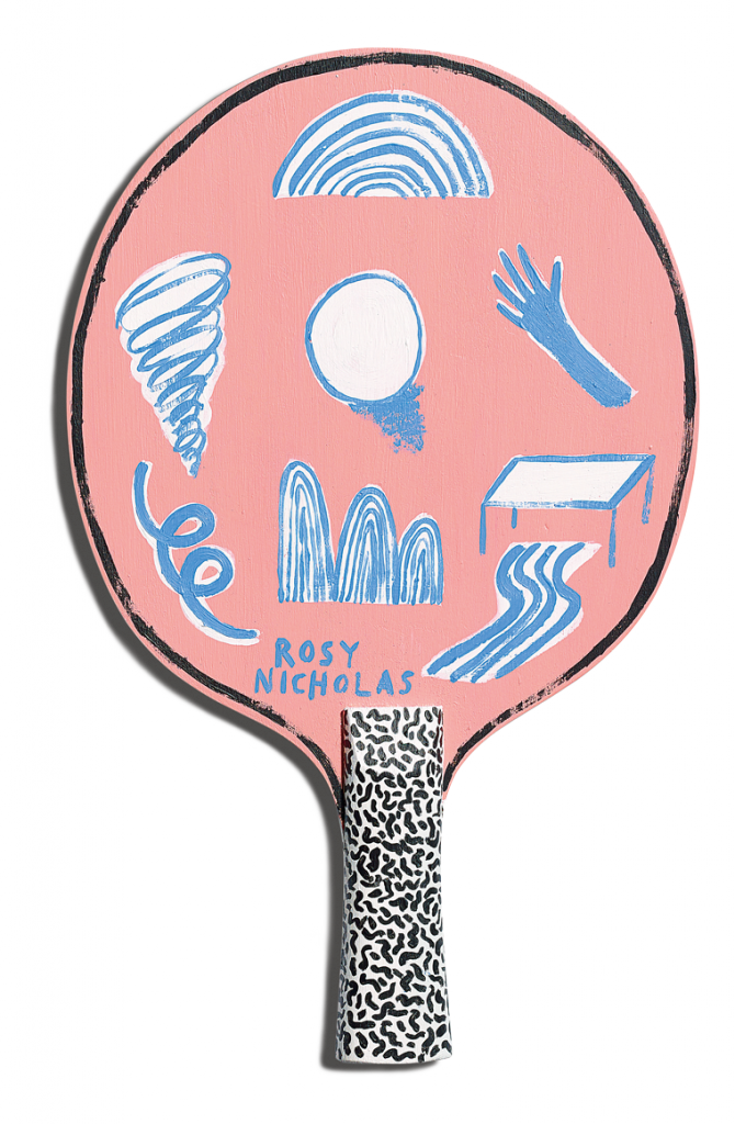 Back of Rosy Nicholas's racket