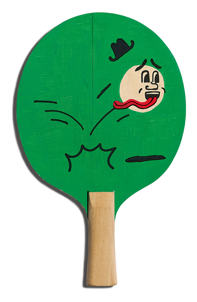 Back of Thomas Slater's racket