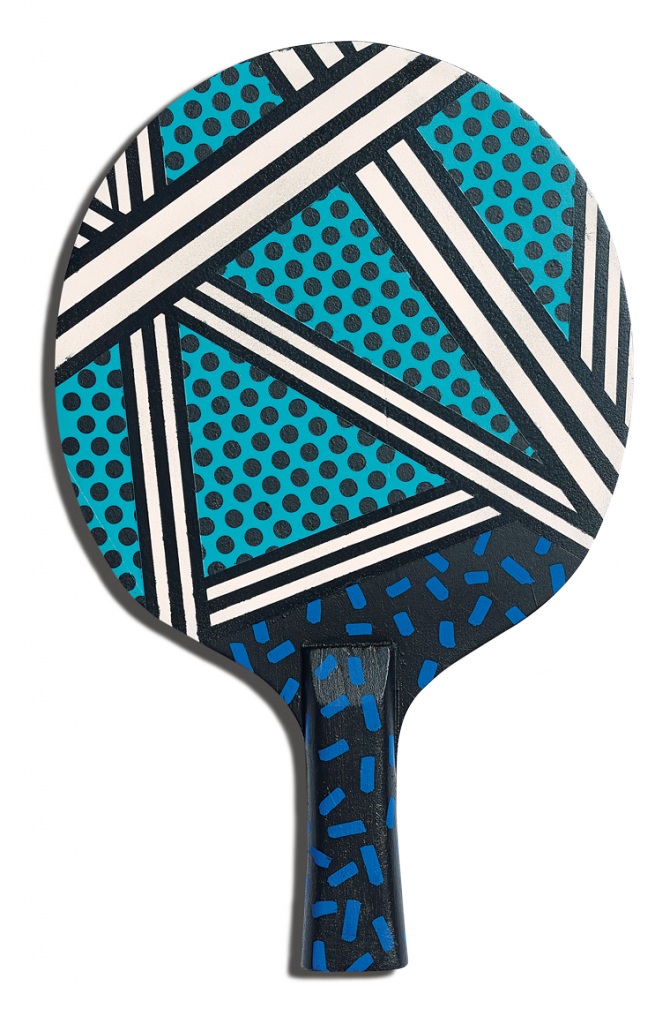 Front of Camille Walala's racket